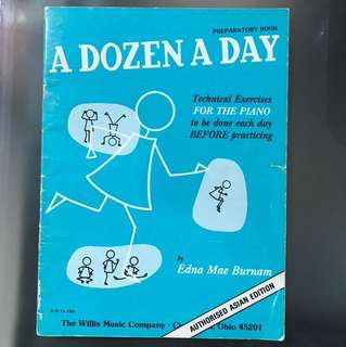 FREE POSTAGE A Dozen A Day PREPARATORY BOOK