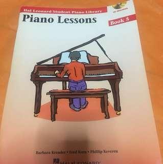 NEW Hal Leonard Piano Lessons Book 5 w CD