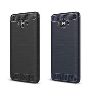 華為HUAWEI Mate 10 Pro 專用四邊全包碳纖維配鋼絲紋手機軟殼保護軟套Case GSA3753A
