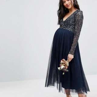 ASOS Maternity Long Sleeve Midi Dress
