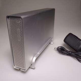 HD Hard disk  / IDE / case aluminium  (includes 250GB hard drive) USB/firewire external expansion
