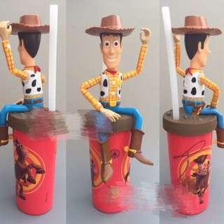 [預購]正版 玩具總動員胡迪卡通玩具吸管水杯