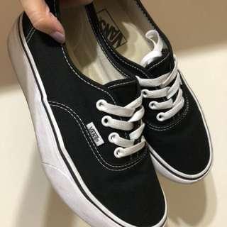 VANS AUTHENTIC PLATFORM 基本款 黑色 厚底 女鞋 Old School 滑板鞋 休閒 綁帶