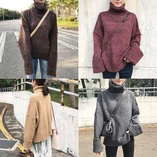 🚚 Dec.iwhere現貨  預購 高領針織毛衣 自留款