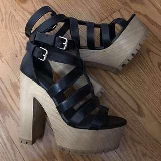 Never worn Black size 7 heels