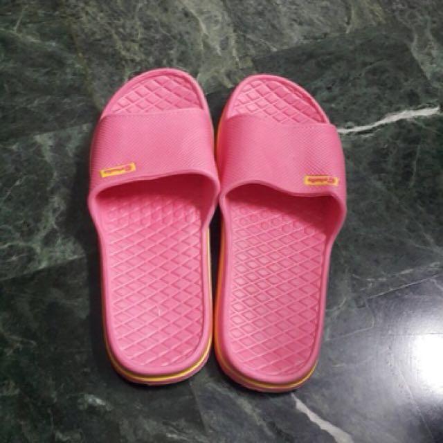 桃紅防水室內拖鞋✨全新