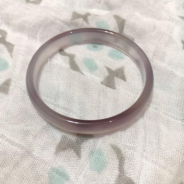 透明紫玉鐲