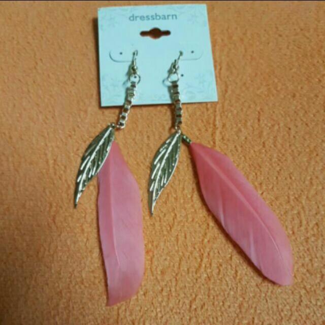 民俗風 羽毛造型耳環