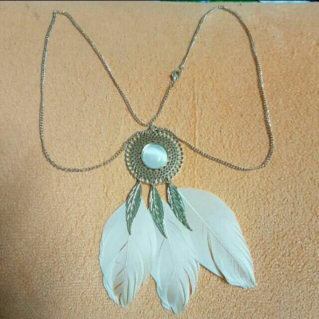 民俗風 復古羽毛項鍊
