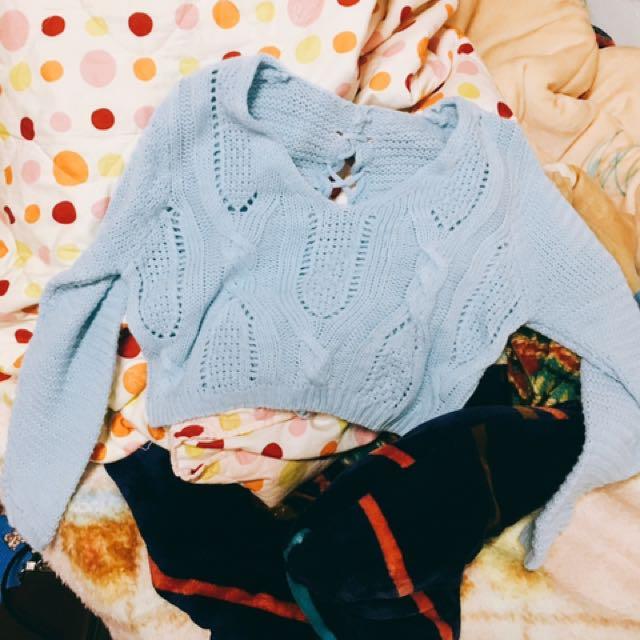 短板針織毛衣