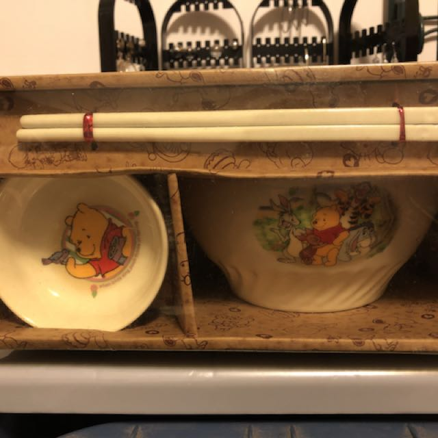 小熊維尼碗筷組