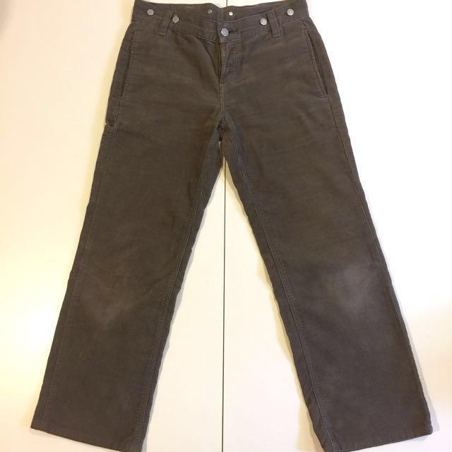 日本購入 Margaret Howell x Edwin MHL 聯名 愛德恩 限定 限量 復古 日本製 工作褲 吊帶褲 絨布褲 絨布 口袋褲 古著 寬褲 卡其灰
