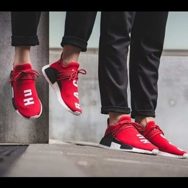 new style 9f7da 95a5e Adidas NMD Human Race Red