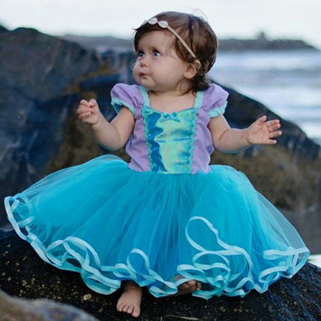 photo photo ...  sc 1 st  Carousell & ARIEL Baby costume-princess mermaid Baby dress for girls 1-5y ...