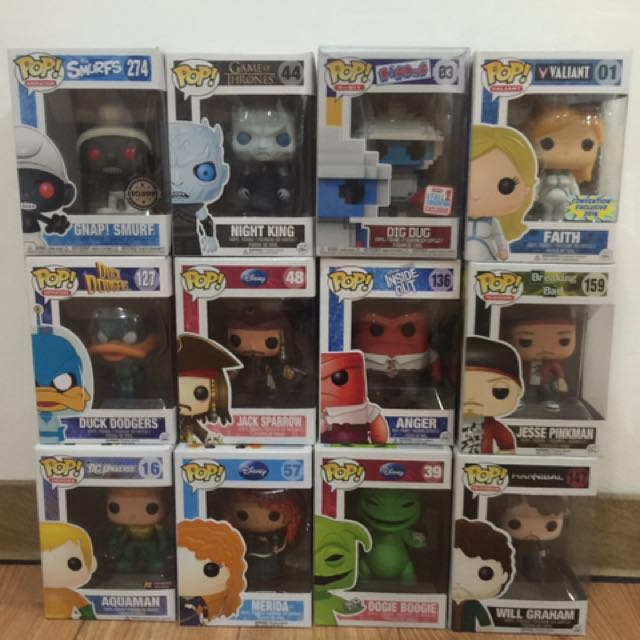 assorted Funko Pop (negotiable)