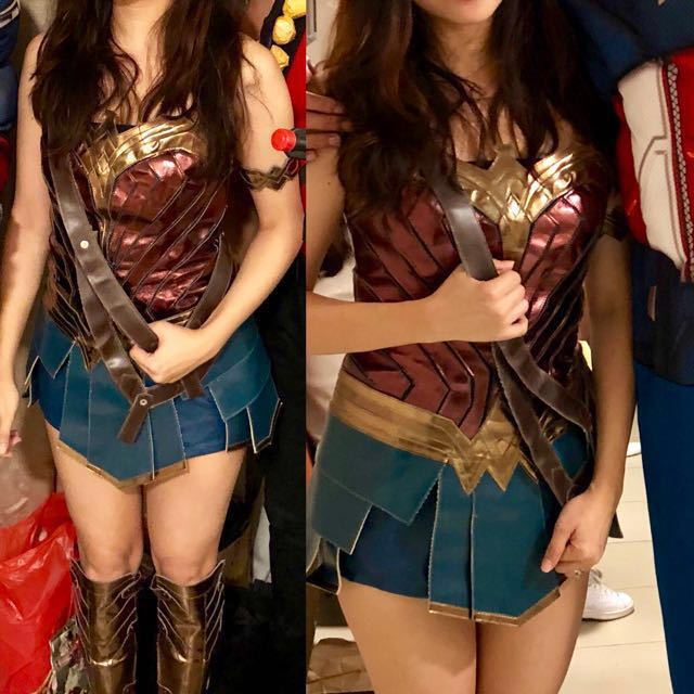 Authentic Wonder Woman Costume Cosplay Full Gear Rent