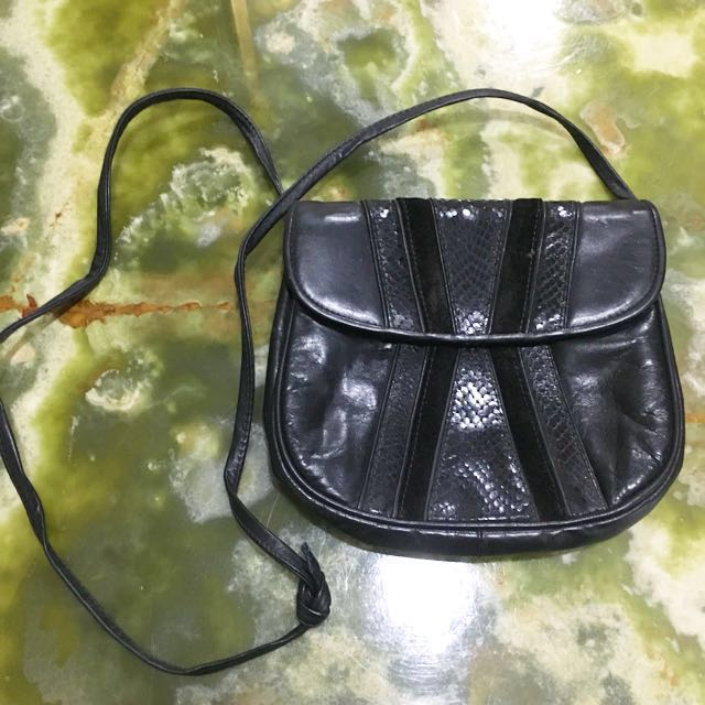 Barbara Bolan Snake Skin Small Sling Bag