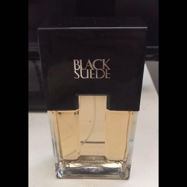 Black suede cologne