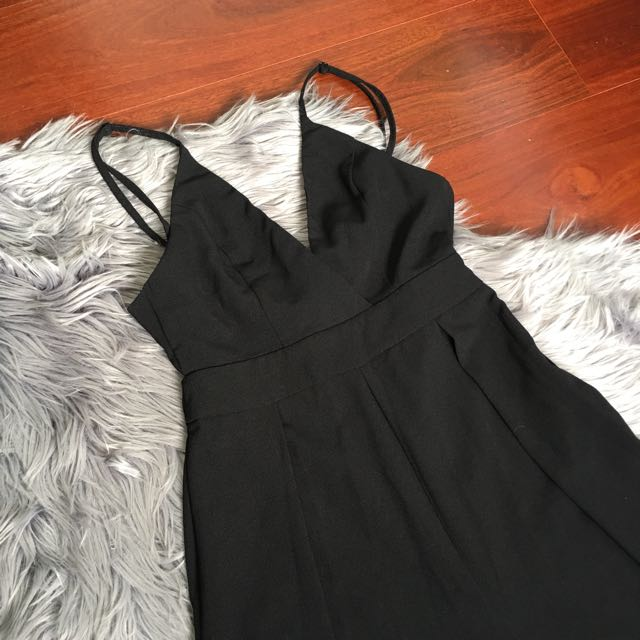 Blossom Black Tie Back Jumpsuit Size 6
