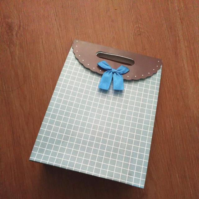 Blue Bow Paperbag