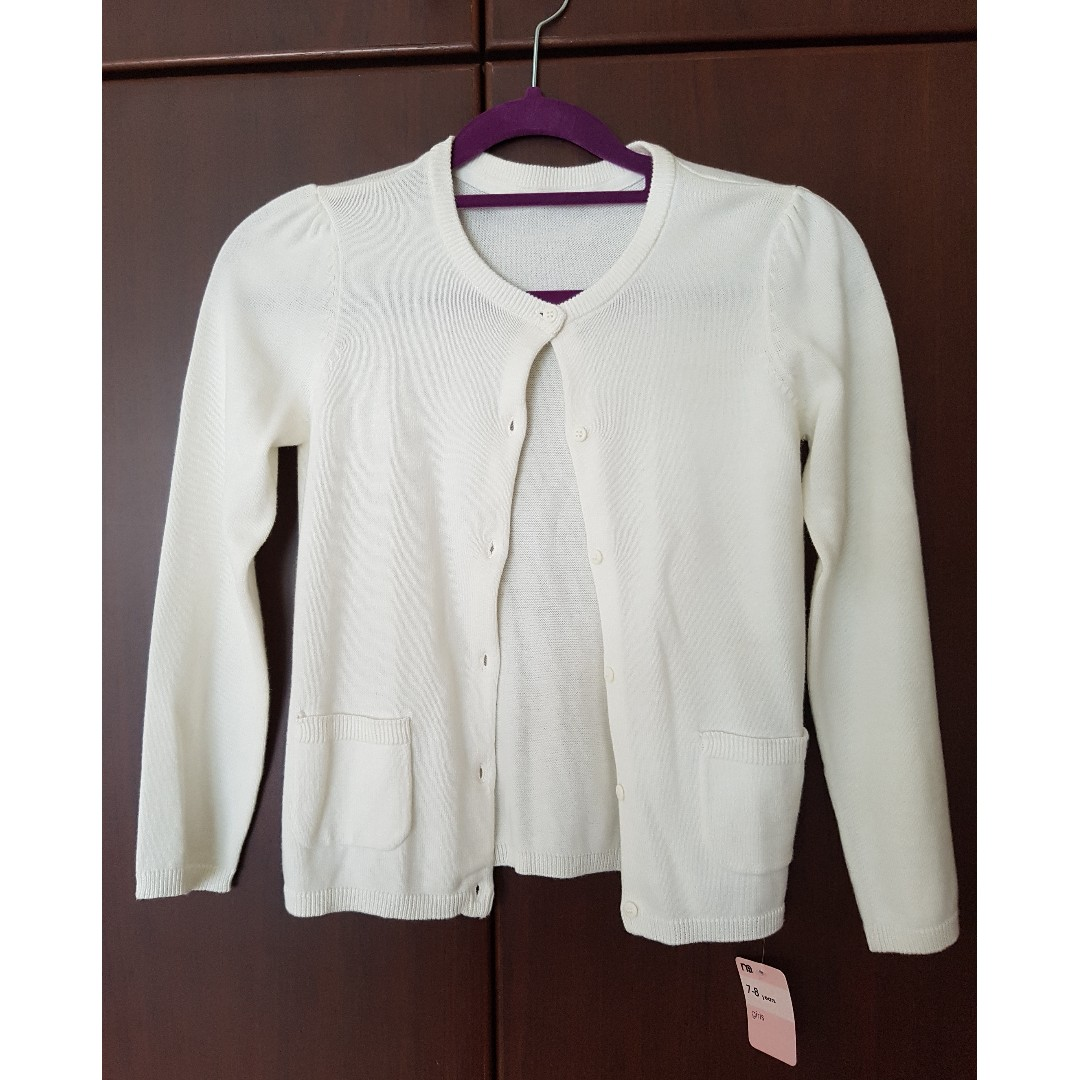 4638472e45d4 BNWT Mothercare white knitted cardigan