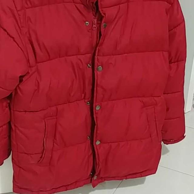 Boys dark red winterjacket