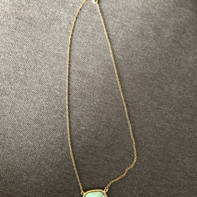 Brand new gold and green chain necklace