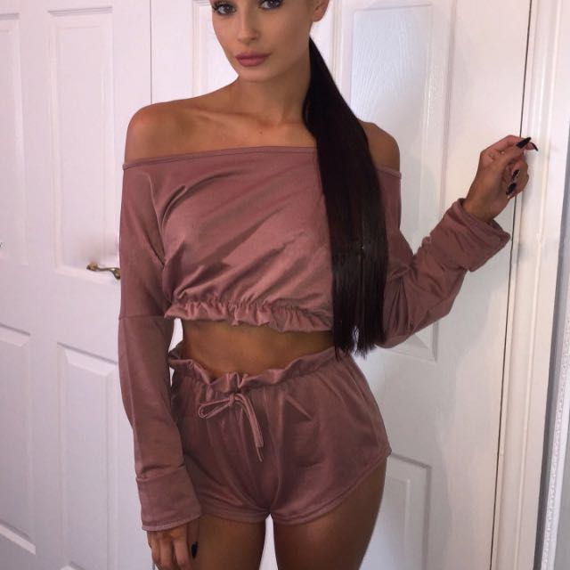 brand new pink long sleeve off shoulder crop top size 10