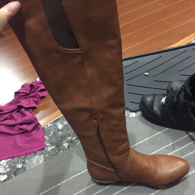 Brown High Knee Boots