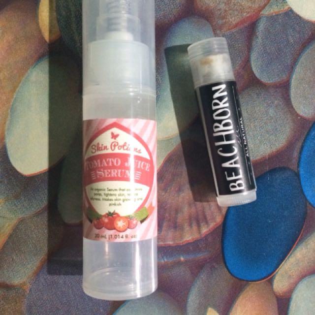 Bundle sale skinpotions tomato serum + beachborn bam balm