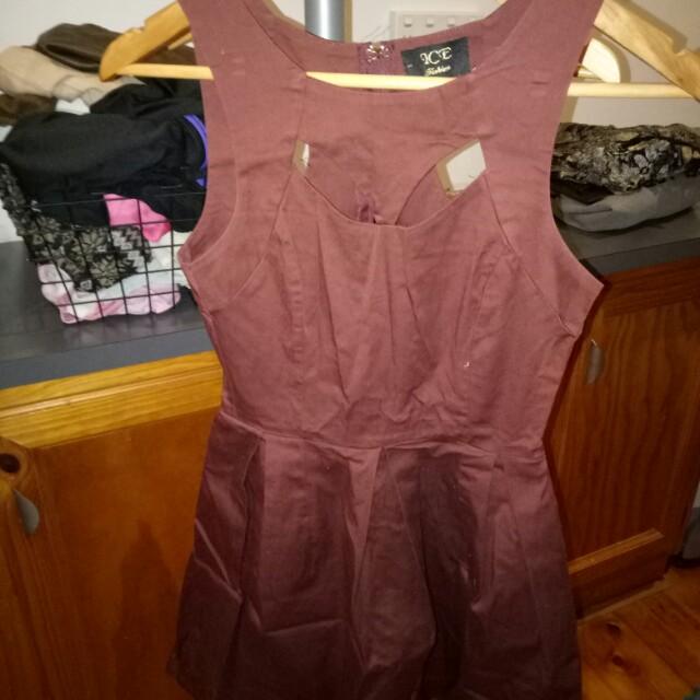 Burgundy dress size XS