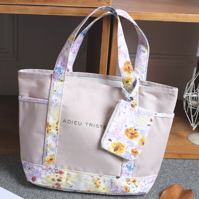 Canvas Carrier Tote Bag with Pouch