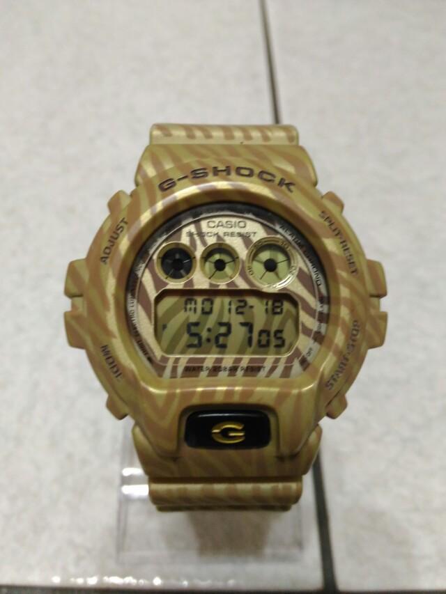 Casio g-shock dw-6900ZB 經典款 斑馬紋 man