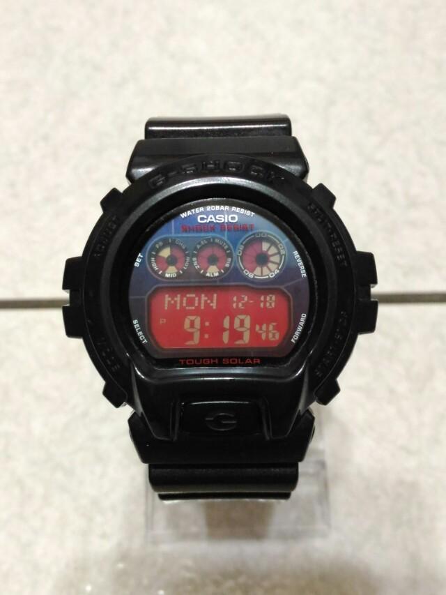 casio g-shock g-6900cc 光動能 黑x紅
