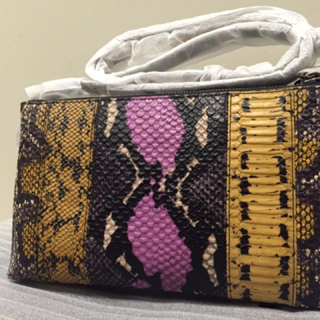 COACH In Pieced Exotic Embossed Leather 37172 Wildflower Multicolor Cross Body Bag