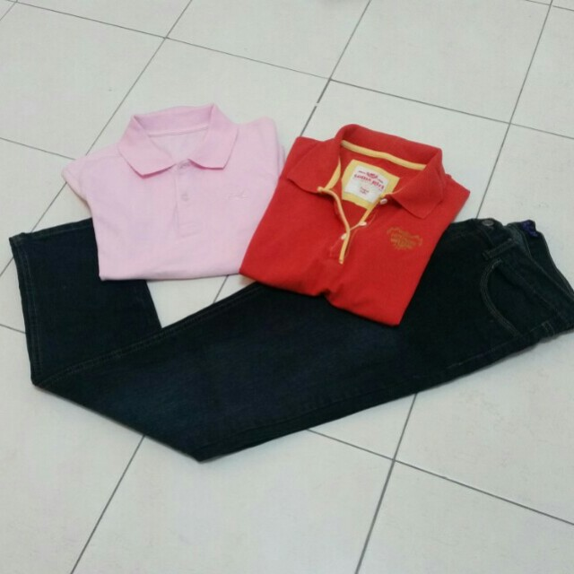 Collar Tee & Jeans long pants (all)