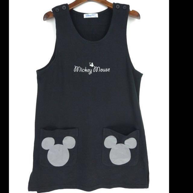 🔴私物🔴Disney micky mouse 雙口袋背心裙 背心洋裝 迪士尼