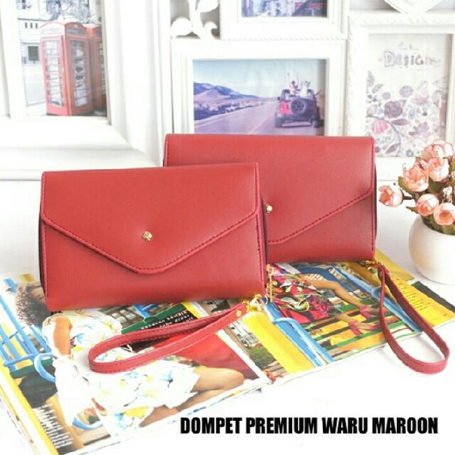 Dompet Premium Waru Maroon