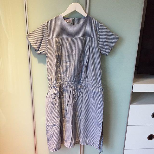dress hamil dan menyusui brand Amabel fit to M, panjangnya dibawah dengkul
