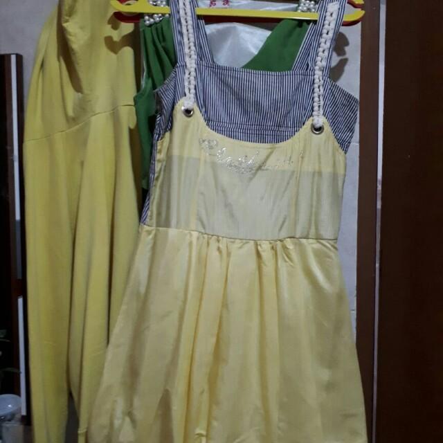Dress Pesta / Dress Balon /Dress Kuning
