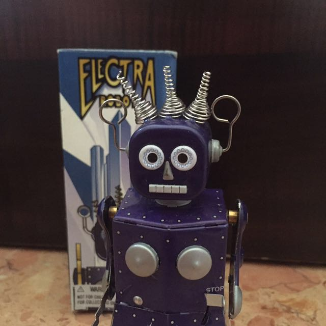 Electra Robot Wind Up Tin Toy Toys Games Bricks Figurines On