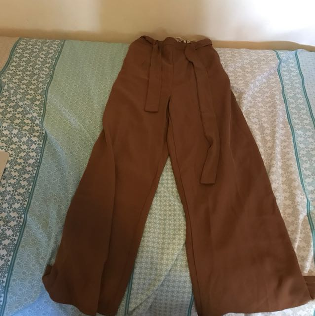 Flared pants brown