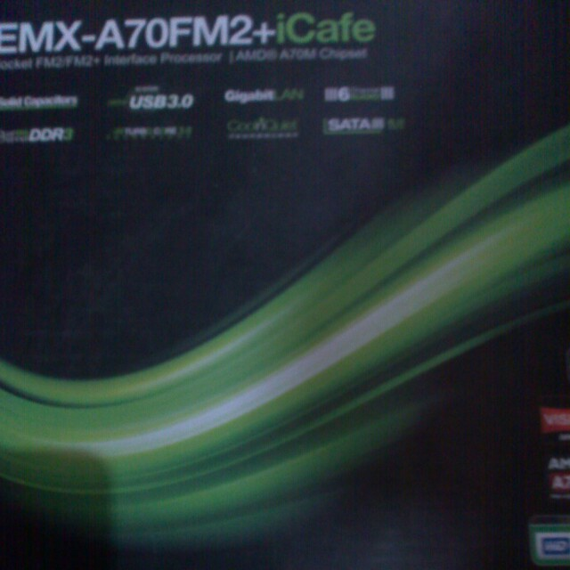 Fm2/fm2+ emx-a70 amd motherboard(mobo) for a4 a6 a8 boxed, unused brandnew