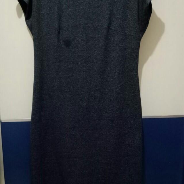 FOREVER 21 back zipper dress (dark grey)