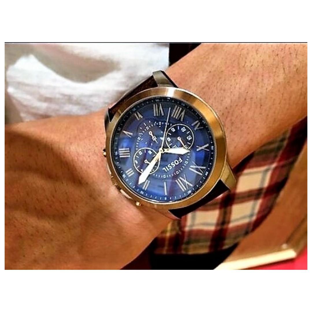 42eab8d0693 ... leather watch  fossil men u0027s fs5150 grant chronograph dark brown  leather watchfossil men u0027s fs5150 grant ...