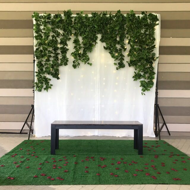 Garden Wedding Backdrop Engagement Tunang Home Services