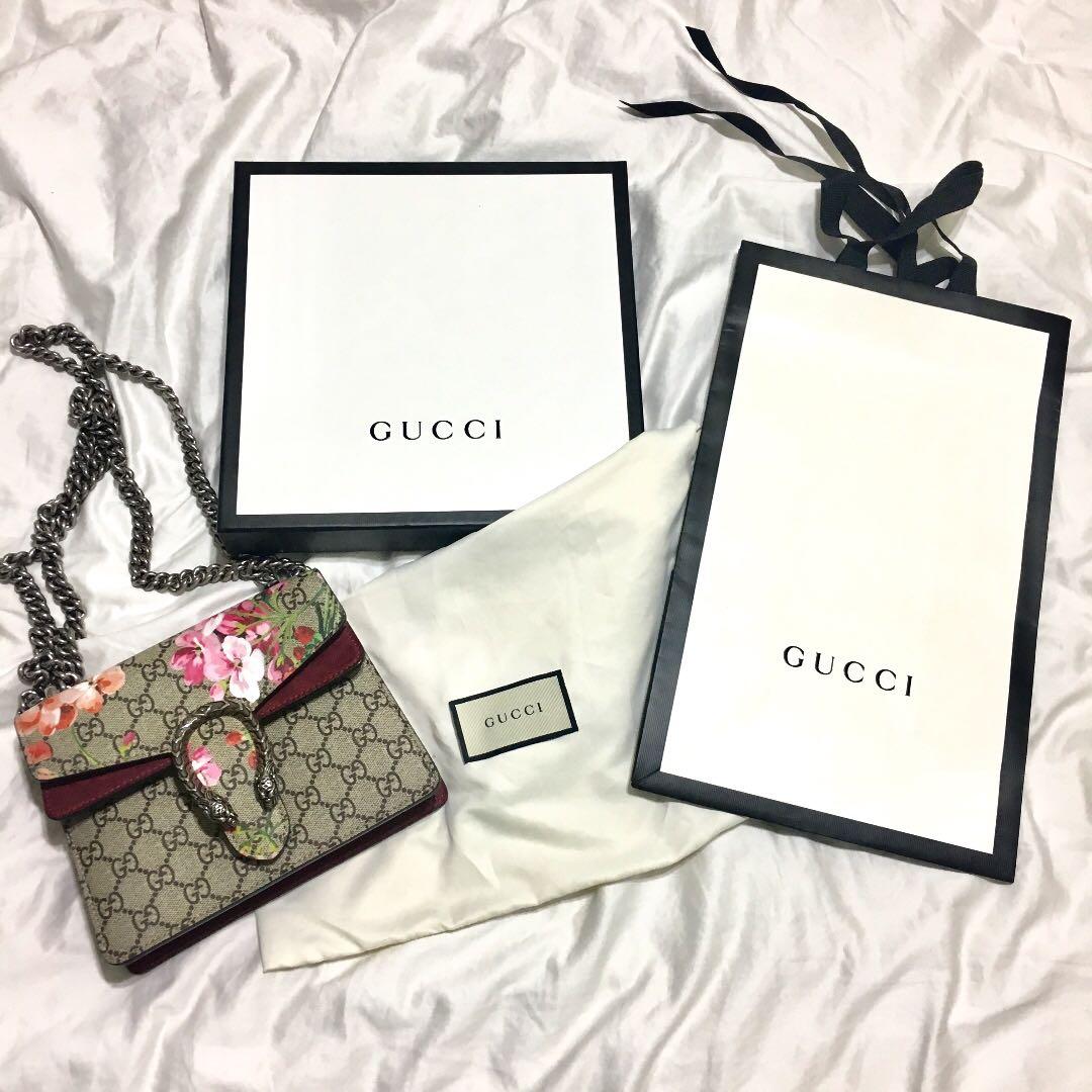 6483373bdeac4b Gucci Dionysus GG Blooms Mini Bag Preloved 100% Authentic, Women's ...
