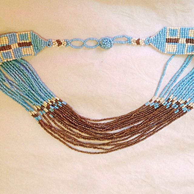 Hand crafted, gorgeous beaded necklace