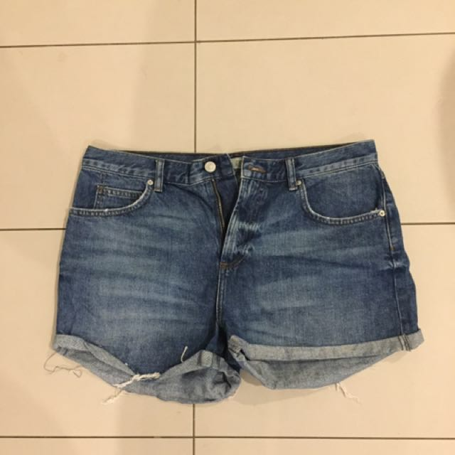 Highwaisted Denim Shorts From Topshop (size14)