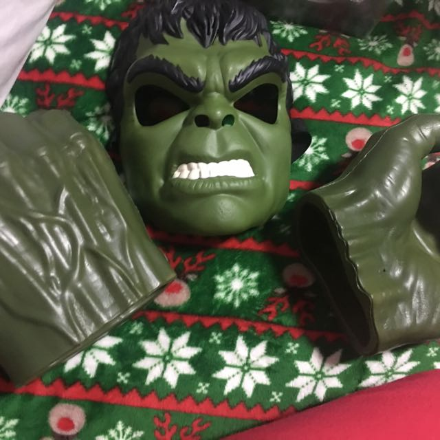 Hulk hands and mask with voice changer